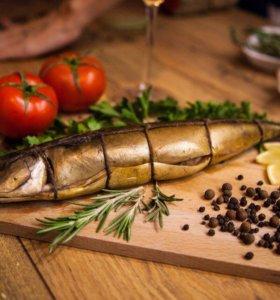 Рыба и сыры домашнего копчения