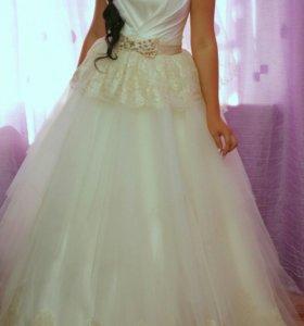 Продам свадебное платье и муж. Костюм