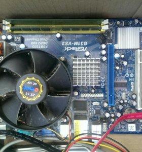 Материнская плата + 2х ядерный процессор