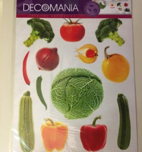 Виниловые наклейки Овощи,размер 37*30