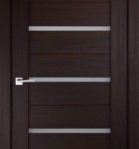 Дверь межкомнатная Стиль 1, цвет Венге, Экошпон