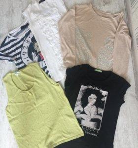 Пакет:2 футболки,2 майки,кофточка со стразами