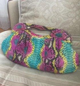 Клатч (сумка) из кожи питона