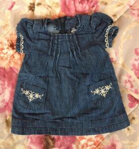 Zara baby 3-6 месяцев платье джинсовое