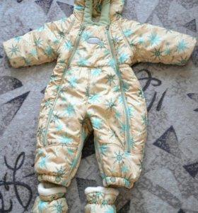 Зимний детский комбинезон-трансформер (68-80 см)