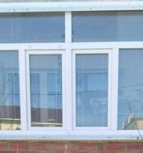 Пластиковые окна маскитными сетками и подоконникам