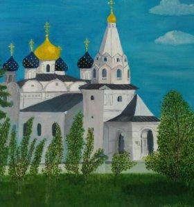Картина живопись,Храм Георгия Победоносца