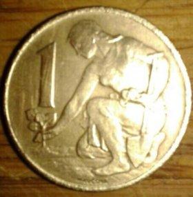 1 крона Чехословакия 1984