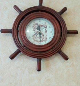 Часы настенные (штурвал)