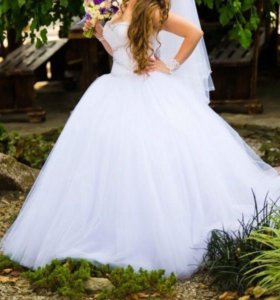 Белоснежное Свадебное платье Lorange