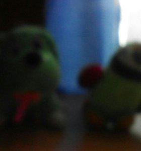 Собачка и попугай
