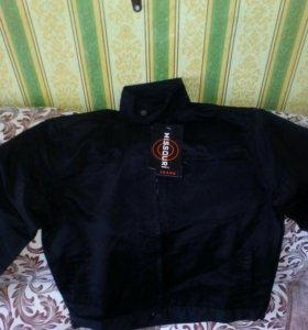 Черная,новая куртка на рост160-165