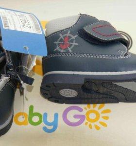 Ботинки на мальчика р-р 22