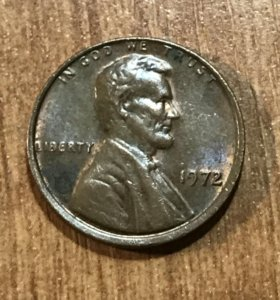 Цент Линкольна 1972
