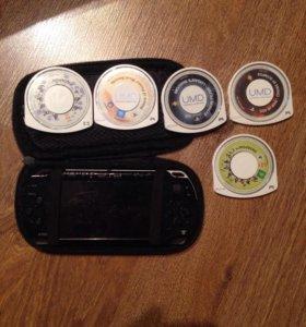 5 Дисков для PSP +сама PSP