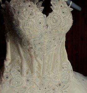 Свадебное платье трансформер(с подъюбником)+туфли