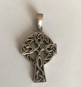 Кельтский крест; серебро 925 пробы