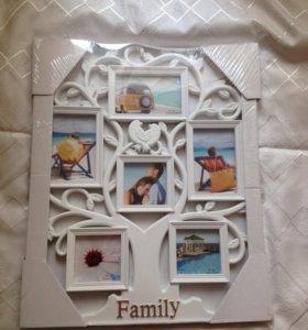 Фоторамка family белая