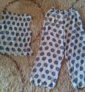 Костюм летний (блузка и брюки)