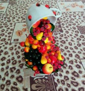 Фруктово-ягодная парящая чашка своими руками.