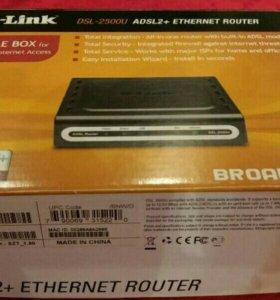 Модем сетевой D-Link DSL-2500U (маршрутизатор)