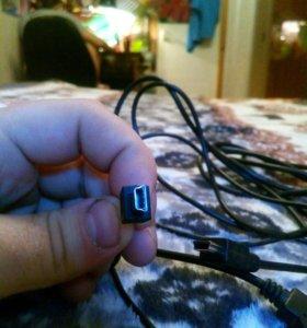USB кабель mini usb 3 шт