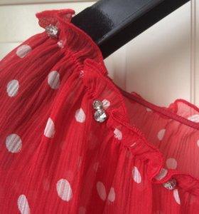 Блузка Juice Couture прозрачная в горох.