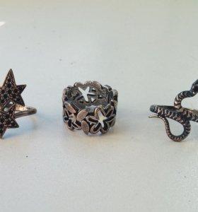 Кольца серебряные 925 проба