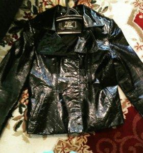 Куртка кожа-лак