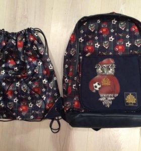 Новый рюкзак и мешок для сменки