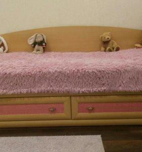 Кровать подростковая и стол Lazurit