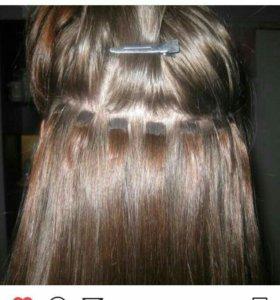 Натуральное наращивание волос на креотином