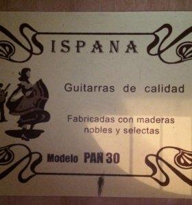 Гитара Ispana mod30 Испанская гитара
