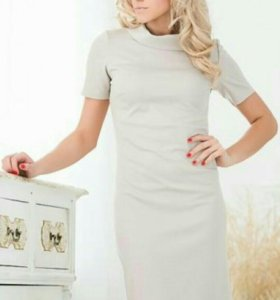 Новое бежевое платье