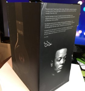 Коробка от наушников Beats By Dr. Dre Detox
