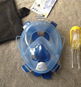 Новая маска для плавания(снорклинга)
