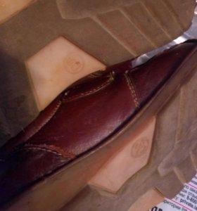 Кожаные ботинки туфли для мальчика 30