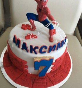 Человек паук торт на заказ мальчику
