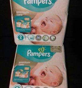 Pampers premium care 2 (3-6кг)