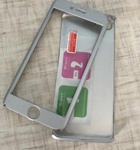 Чехол на iPhone 7 с защитным стеклом, все новое!