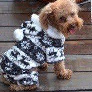 костюм с оленями для маленькой собачки (щенка)