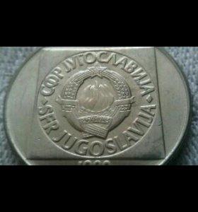 Монета 100 динаров 1989 г.Югославия