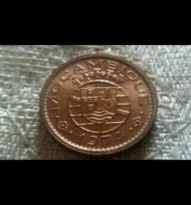 Монета 20 сентаво 1974 г.Мозамбик
