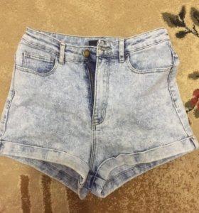 шорты с высокой талией