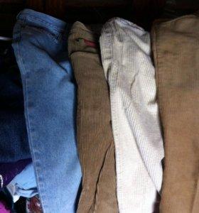 Вельветовые брюки+джинсы