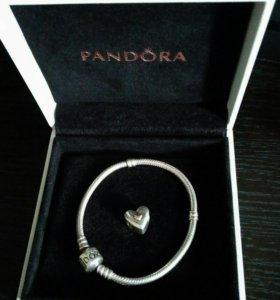 Браслет Pandora + шарм Pandora
