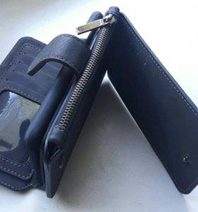 Кошелек чехол мужской для телефона Айфон 6 и 6S