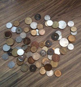 Ассорти из монет разные страны