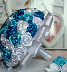 Свадебные букеты из лент