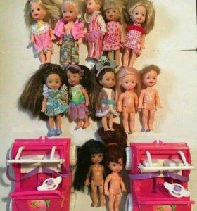 Куклы Келли дочки Барби маттел